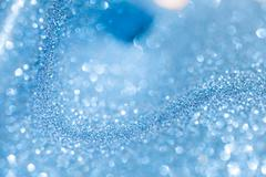Snowy blue glitter shiny christmas abstract background Stock Photos