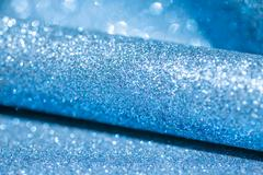 Blue shiny winter christmas abstract background Stock Photos