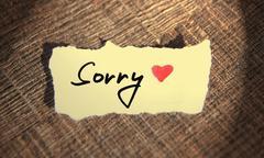 Sorry handwritten Stock Photos