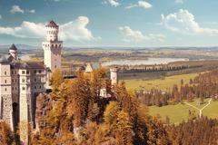 Beautiful fantasy castle Stock Photos