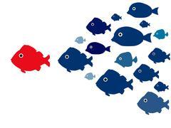 team leading - stock illustration