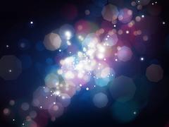 Stock Illustration of blue shining blur lights background