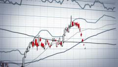Stock market graph system - close-up panning Stock Footage