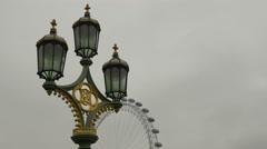 Street Lamps on Westminster Bridge Stock Footage