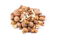 Variety of Mixed Nuts Stock Photos