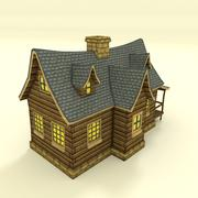 Low Poly House Hand Painted - 3D model