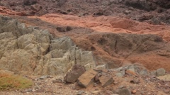 Volcanic rock formations in different colours Stock Footage