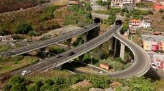 Motorway junction on Madeira Stock Footage