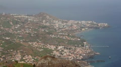 Coastline with a panoramic view on Madeira Stock Footage