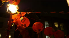 Chinese Red Paper Lanterns Stock Footage