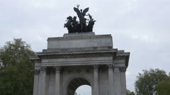 London Wellington Arch Stock Footage