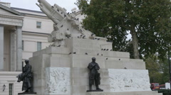 London Royal Artillery Memorial Stock Footage
