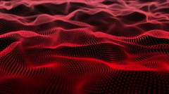 4k club music particals field dance motion background red Stock Footage