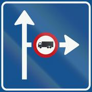 Netherlands road sign L10 - Advance traffic information for the direction sho Stock Illustration