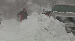 Sudbury digs out from massive snowstorm and blizzard Stock Footage