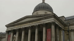 London National Gallery Building Stock Footage