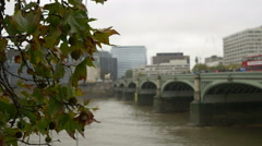 London Westminster Bridge Stock Footage