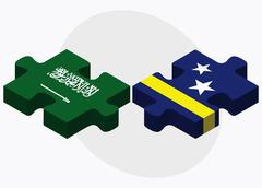 Stock Illustration of Saudi Arabia and Curacao Flags