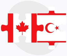 Stock Illustration of Canada and Turkish Republic of North Cyprus Flags