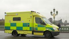 Emergency Ambulance in London Stock Footage