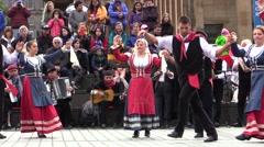 Tarantella italian folk dance. Pizzica, taranta. Stock Footage