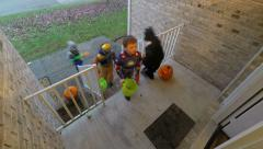 Trick or treat time lapse - Halloween Stock Footage