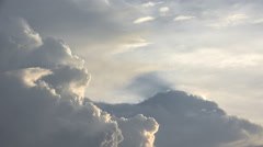 Billowing Clouds in the sky Stock Footage