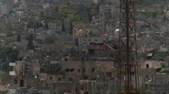 Palestinian West Bank houses near Bethlehem Stock Footage