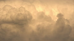 Gold Clouds at Sunset - stock footage