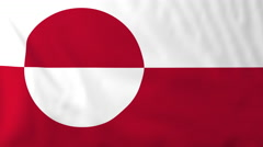 Flag of Greenland waving in the wind, seemless loop animation - stock footage