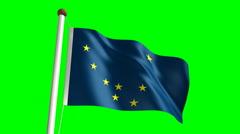 Alaska flag (with green screen) Stock Footage
