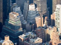 The urban landscape of New York City Stock Photos