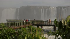 Iguassu Falls - One of nature's 7 wonders - Cataratas do Iguaçu 01 Stock Footage