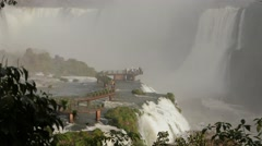Iguassu Falls - One of nature's 7 wonders - Cataratas do Iguaçu 03 Stock Footage