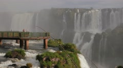 Iguassu Falls - One of nature's 7 wonders - Cataratas do Iguaçu 02 Stock Footage