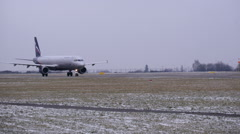 Plane Before Take Off Stock Footage