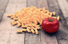 Stock Illustration of bunch of pasta with tomato