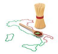 Concept of italian pasta Stock Illustration