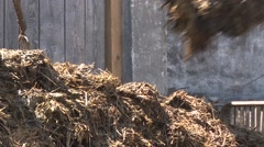 Loading the manure Stock Footage