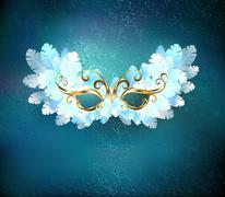 Mask of white feathers Stock Illustration
