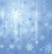 Snowflakes and ice background Stock Illustration