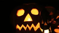 Halloween pumpkin head Stock Footage