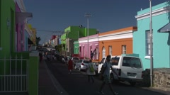 Colourful Cape Town street Stock Footage