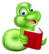 Cute Cartoon Caterpillar Worm - stock illustration