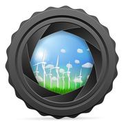 Camera shutter with wind generators Piirros