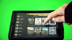 Stock Video Footage of Watch a Movie in Ipad, green screen