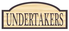 Wooden Undertakers Store Sign Stock Illustration
