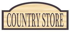 Wooden Country Store Sign Stock Illustration