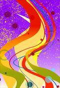 Purple Jazz Background - stock illustration