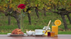 Stock Video Footage of French breakfast